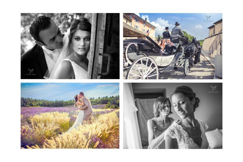 6 photo de payasage avec mariés à Avignon