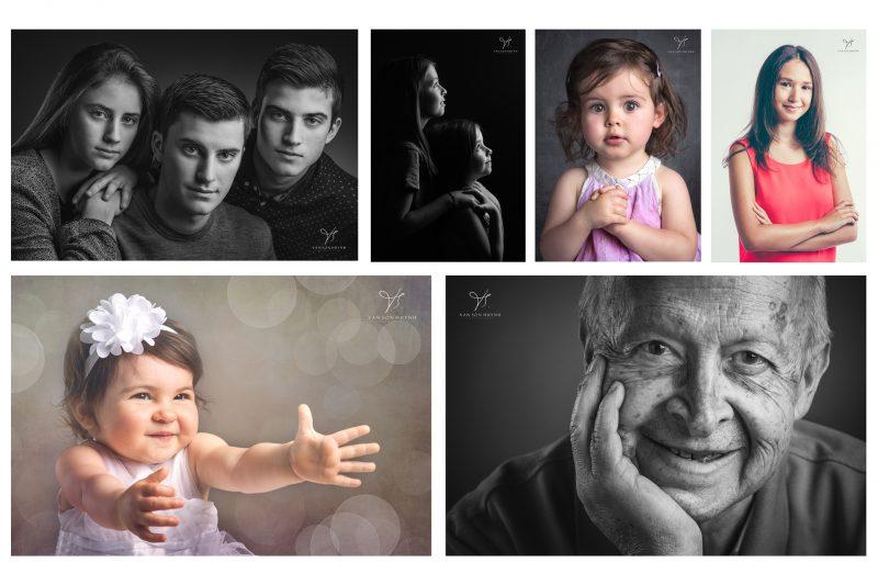 photo de famille en noir et blanc à avignon